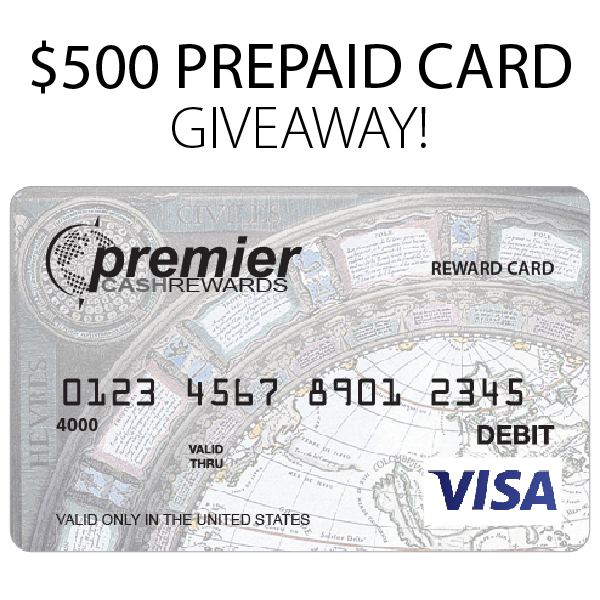 $500 PREPAID VISA CARD GIVEAWAY PROMOTION
